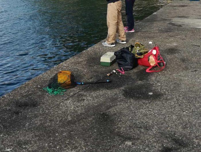 アオリイカが釣れるポイントには墨跡アリ