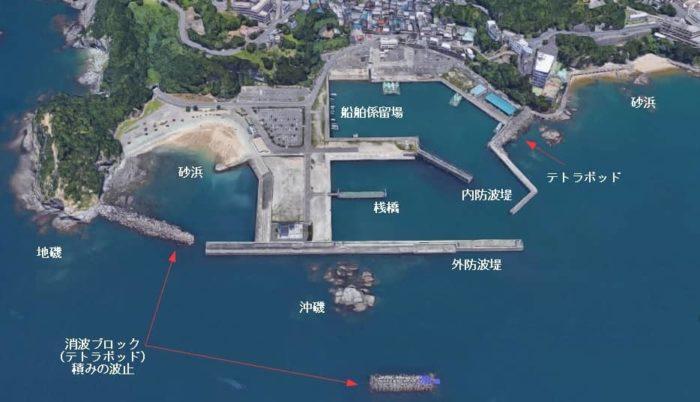 和歌山県 田ノ浦漁港(出典:ZENRIN)