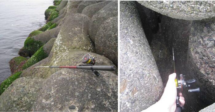 大半の釣り場では標準的な穴釣りロッドが必要